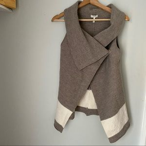 Joie Ligere Colorblock Wool Sweater Vest
